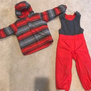 Columbia snow suit for toddler boy size 4t